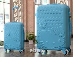 Hello Kitty 28 Trolley High Quality ABS Suitcase Luggage Travel Set-6 Colors