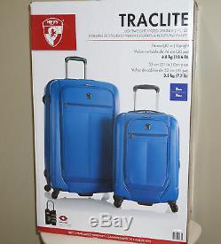 Heys Traclite 2-PC Set 4-Wheel Lightweigh Hybrid Spinner Luggage 30 21 Upright