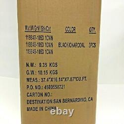 High Sierra Duffel Bag Set 3-Piece Wheeled, Black Charcoal 119849-1053