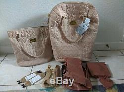 Joy Mangano Clothes It All Travel Ease, 2 Piece Set, Creamy Almond, Luggage