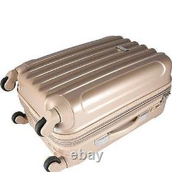 Kensie Luggage 3 PC Expandable Hard Side Luggage Set Silver KN-67903-SV