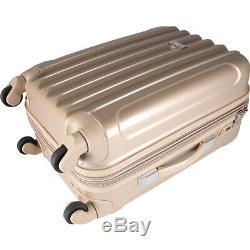 Kensie Luggage Alma 3 Piece Metallic Expandable Hard Luggage Set NEW