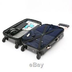 Kensie New Black / ROSE GOLD Luggage 3 PC SET Expandable Hard Side Spinner TSA