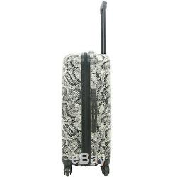 Kensie New GRAY SNAKE Luggage 3 PC SET NOT Expandable Hard Side Spinner