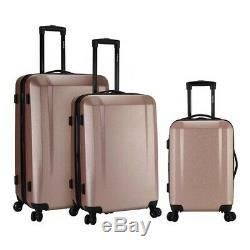 Kensie Unisex 3-Piece Expandable Hardside Luggage Set