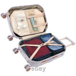 Kensie Women's 2 Piece Shiny Diamond Luggage Set, LAVENDER TSA SPINNER