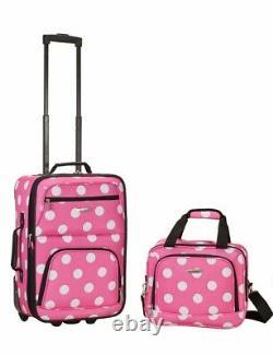 Kids Luggage Travel Bag Set Medium 2 Piece Girl Pink Gift Camp Storage New