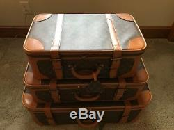 LOUIS VUITTON Vintage Set of 3 Luggage Case Suitecase Travel Bag
