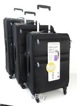 Lightweight 4 Wheel Set Of 3 Suitcases Suitcase Trolley Case Travel Luggage Bag