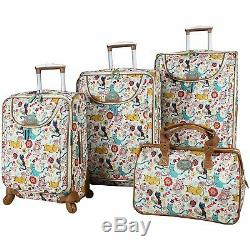Lily Bloom Furry Friends Luggage Suitcase Set 4 Piece Collection Spinner New