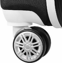 London Fog Vintage II Hardside Spinner Lightweight Luggage Set Black / White