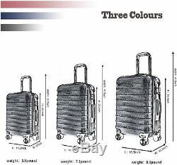Luggage 3 Piece Set CarryOne Suitcase ABS Hardshell Lightweight TSA Lock with 4
