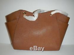 MICHAEL KORS Luggage Brown Jet Set Travel Large Chain Shoulder Tote handbag NWT