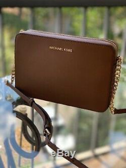 MICHAEL KORS Set Jet Travel EW Crossbody Luggage Bag + Double Zip Wallet