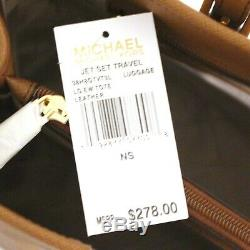 MICHAEL KORS Travel Tote LUGGAGE Purse Saffiano LEATHER Jet Set EW Lrg NWT $278