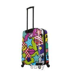 Mia Toro Italy Hard Side Luggage 3pc Set 20, 24 & 28 Stars and Kisses