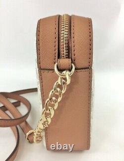 Michael Kors Bag/Shoulder Bag Jet Set Item LG Ew Crossbody Vanilla/Luggage