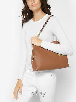 Michael Kors Jet Set Chain Item Large Leather Shoulder Bag (Luggage)