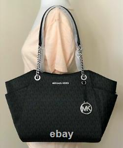 Michael Kors Jet Set Chain MK Signature Leather Large Shoulder Tote Bag