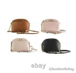 Michael Kors Jet Set Emmy Leather Medium Dome Crossbody Bag