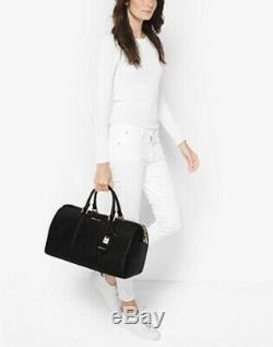 Michael Kors Jet Set Large Black Weekender Luggage Handbag Travel Duffle New