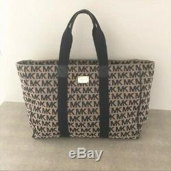 Michael Kors Jet Set MK logo XL Travel Weekender Tote Carryon Bag Luggage
