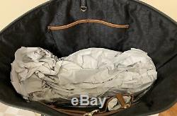 Michael Kors Jet Set Medium Travel Center Stripe Leather Tote in Luggage White