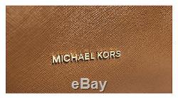 Michael Kors Jet Set Travel Chain Top Zip Luggage Brown Leather Tote 30T6GJ8T6L