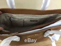 Michael Kors Jet Set Travel Large Multifunction Carryall Tote Luggage Brown Gold
