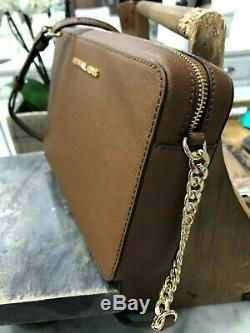 Michael Kors Jet Set Travel Lg Ew Crossbody Bag Luggage Saffiano Leather $248