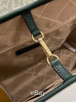 Michael Kors Jet Set Travel Medium Carryall Tote Leather Bag Luggage