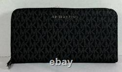 Michael Kors Jet Set Travel PVC MK Signature Continental LARGE Wallet, Purse