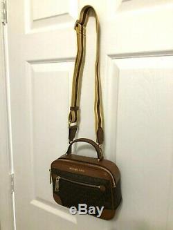 Michael Kors Jet Set Travel Top Handle Camera Crossbody Bag Brown / Luggage $328