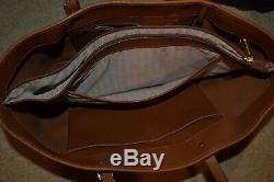 Michael Kors Luggage Brown Large Saffiano Leather Jet Set Travel Ew Tote Bag