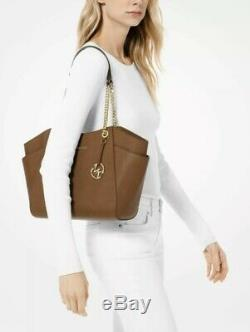 Michael Kors Signature Jet Set Large Bag Shoulder Tote + Wallet Luggage Brown