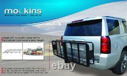 Mockins Hitch Mount Cargo Carrier & Net Set Extension Trailer Car SUV Luggage