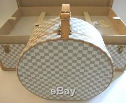 NEW LOUIS VUITTON Azur Alzer Beauty Case Hat Trunk Set Limited Rare