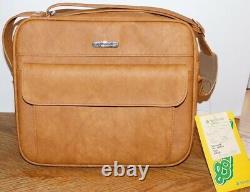 NEW Set Vintage Samsonite Cordoba Luggage Tote & Carry-On Spicewood Tan Leather