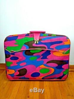 NOS Vintage K Gimbel Japan Retro Mod Suitcase Luggage Carry On Bag 5pc Set