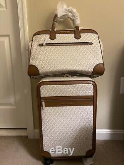NWT Authentic MICHAEL KORS Trolley Suitcase Carry on Duffle Travel Set of 2
