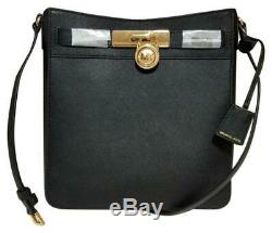 NWT Michael Kors Hamilton Travel Crossbody Messenger Leather logo Jet Set bag