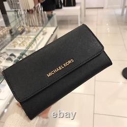 NWT Michael Kors Jet Set Travel Large Trifold Wallet MK Variety
