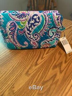 NWT Vera Bradley Grand Traveler & Large Cosmetic Bag Set Waikiki Paisley