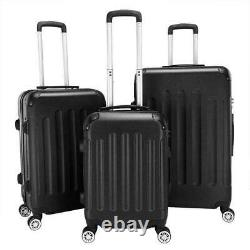 New 3 Pieces Travel Spinner Luggage Set Bag ABS Trolley Carry On Suitcase withTSA
