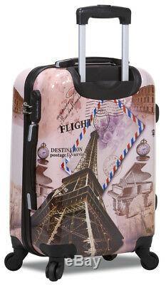 New Dejuno 3 Piece Light Weight Hard Shell Spinner Upright Luggage Set Flight