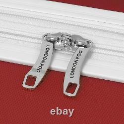New London Fog Vintage II Hardside Spinner Lightweight Luggage Set Red /white
