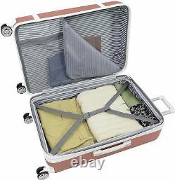 New London Fog Vintage II Hardside Spinner Lightweight Luggage Set Rose Gold