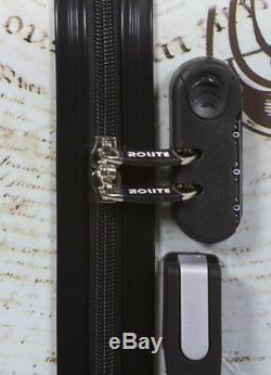 New Rolite 3 Pcs Polycarbnate Hard Shell Suitcase / Travel Luggage Set PARIS