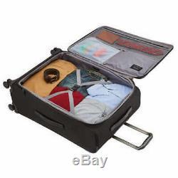 New Samsonite Epsilon NXT 2-Piece Softside Travel Luggage Spinner Set Black