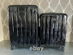 New Set 2 Piece Tumi V3 Expandable Luggage Set in Black (MSRP $1,420) 4 wheels